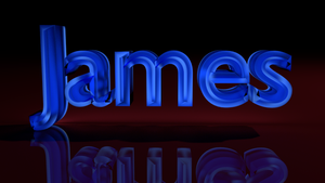 Blender: James 3D Text by iJames55