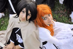 Rukia and Orihime 02 by HellDolly