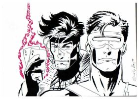 Gambit and Cyclops by photoguy77