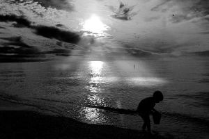 a kid and his shovel by fallenlies