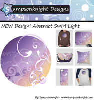 New Design! Abstract Swirl Light by sampsonknight