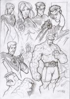 Fantastic 4 - sketches by DenisM79