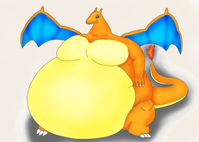 Fat Charizard 2 by DragonFeeder