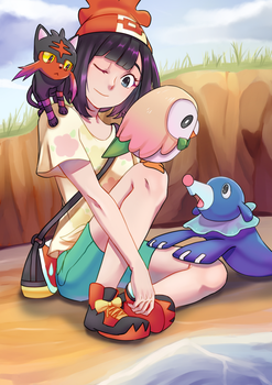 Pokemon Sun and Moon Starters by darlingGrim