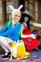 Marceline and Fionna - Adventure Time by jillian-lynn