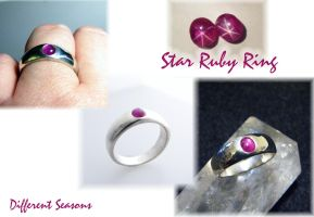 Cast Star Ruby Ring by jessa1155