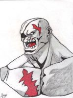 Sagat drawing by IGMAN51