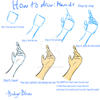 How to draw: Hands! by BadgerBlaze