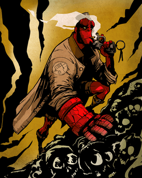 Hellboy by mikeyroberts
