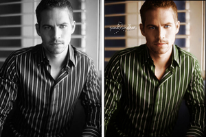 Paul Walker Colorization by BUDDiExNEi