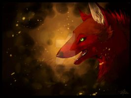 Fire Wolf by TheCookylee