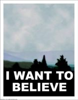 X Files I Want to Believe Poster BLANK by Rabittooth