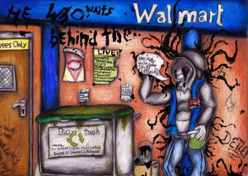 He who waits behind the Wal(l)mart by Holder539