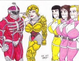 Mighty More-Fun Power Rangers by Crash2014