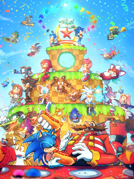 SONIC HAPPY 25th ANNIVERSARY! by PoroiSasaki