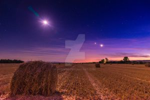 Night over the field by JosivBG