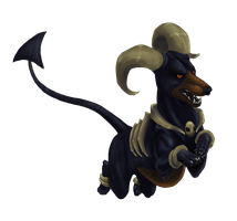 Houndoom by LimeGreenBean