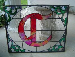 Stained Glass Initial C by MilesArtGlass