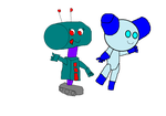 U.F.O. and Robotboy. by ArthurEngine