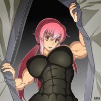 Strong Gasai Yuno by RENtb