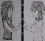 Twins (Image cover for a story) by cheekyangel004
