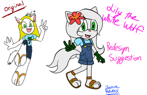 Lily the wolf redesign by JasmineRobotnik