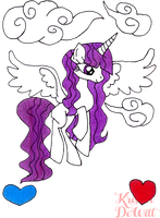Alicorn OC: Celestial Vadoma by LocalAlly