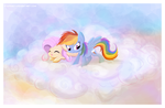 Fluttershy and Rainbow Dash by StePandy