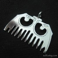 Silver medieval comb by Sulislaw