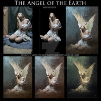 The Angel of the Earth step by step mosaic by GeneRazART