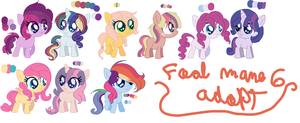 Foal adopt ( Mane6 edition) by karsisMF97