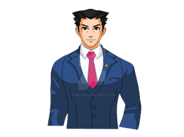 Phoenix Wright Sprite 1 by gamemaster8910