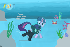 Aquatic Nyx and Twilight by Marcoooootje1
