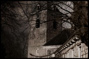 Medieval Church Tower in The Netherlands by Danimatie