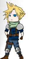 Chibi Cloud Strife by Te-double-gz