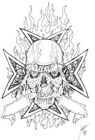 Death Cross Tattoo Flash by TheMacRat
