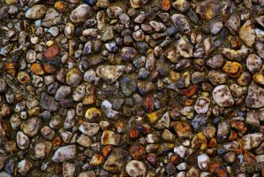 Colored Pebbles by PsychodelicMess