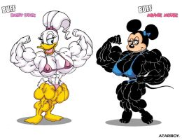 Minnie and Daisy Super Sized. by Atariboy2600