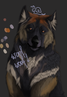 dog warior wip by wolf-minori