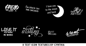 Text Icon Textures #1 by gotasecret-xx