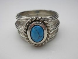 Antique style ring turquoise by nellyvansee