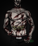 Goretober#1- Excessive Gashes/ Lacertaions by MandyDeaDiteArt