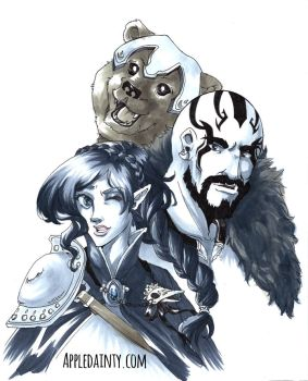 Critical Role: Dex, Trinket and Grog by AppleDainty