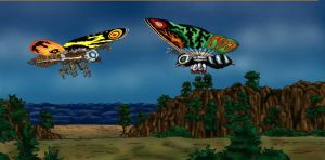 Mothra and Leo by ltdtaylor1970