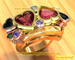 3D Heart bypass ring by BrotherlyFluff