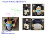 Magolor plushie by Kirbycutieslove76