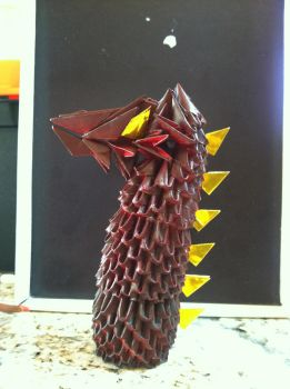 3D Origami Smaug Bust by BFTLandMWandSEK