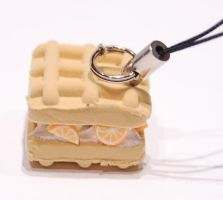 Orange and cream waffle strap by knil-maloon