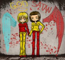 We Are God and Satan by NobodysWanderingSoul