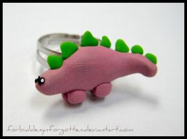 ::Cute Stegosaurus Ring:: by Forbiddenynforgotten